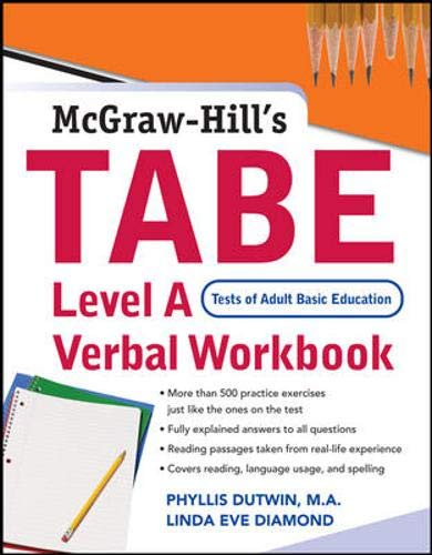 9780071482622: TABE Level A Verbal Workbook