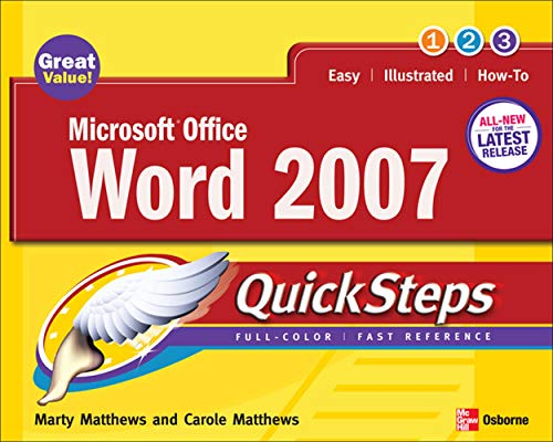 9780071482998: Microsoft Office Word 2007 QuickSteps (How to Do Everything)