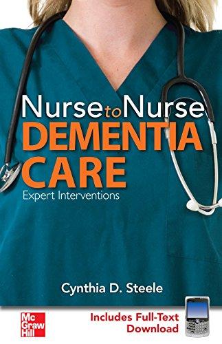 9780071484329: Nurse to Nurse Dementia Care