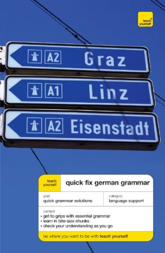 9780071485111: Teach Yourself Quick-Fix German Grammar (Teach Yourself Language)