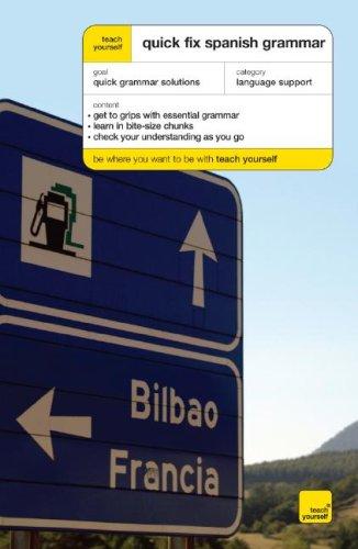 9780071485142: Teach Yourself Quick Fix Spanish Grammar