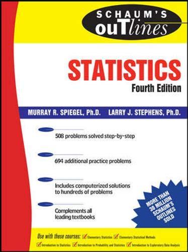 9780071485845: Schaum's Outline of Statistics (Schaum's Outline Series)