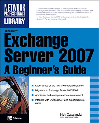 9780071486392: Microsoft Exchange Server 2007: A Beginner's Guide