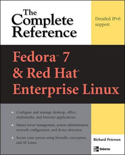 9780071486422: Fedora Core 7 & Red Hat Enterprise Linux: The Complete Reference
