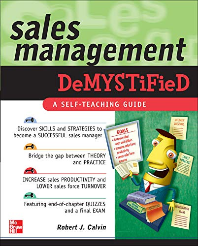 9780071486545: Sales Management Demystified: A Self-teaching Guide