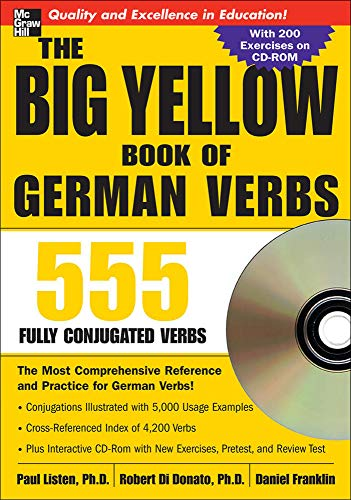 9780071487580: The Big Yellow Book of German Verbs (Book w/CD-ROM): 555 Fully Conjugated Verbs (Big Book of Verbs)