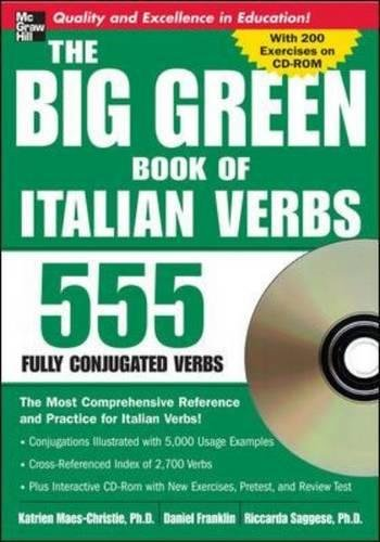 9780071487610: The Big Green Book of Italian Verbs (Book w/CD-ROM): 555 Fully Conjugated Verbs (Big Book of Verbs Series)