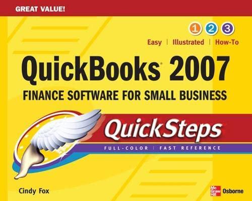 9780071487672: QuickBooks 2007 QuickSteps