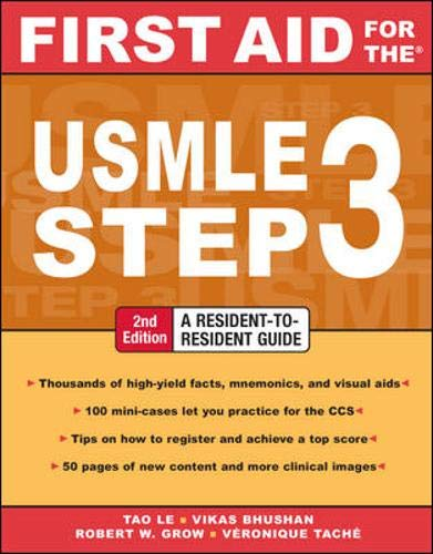 9780071487962: First Aid for the USMLE Step 3, Second Edition (First Aid USMLE)