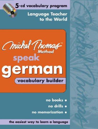 9780071488112: Michel Thomas German Vocabulary Builder: 5-CD Vocabulary Program (Michel Thomas Series)