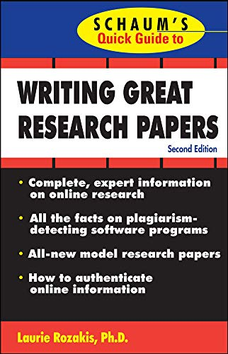 9780071488488: Schaum's Quick Guide to Writing Great Research Papers