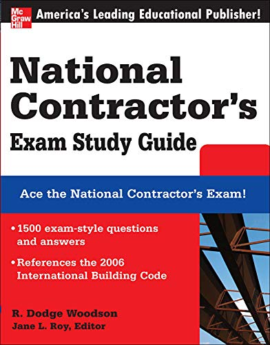 9780071489072: National Contractor's Exam Study Guide (McGraw-Hill's National Contractor's Exam Study Guide)