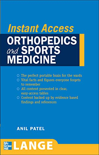 9780071490092: LANGE Instant Access Orthopedics and Sports Medicine