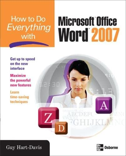 9780071490696: How to Do Everything with Microsoft Office Word 2007
