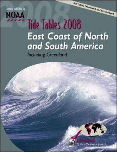 9780071490788: Tide Tables 2008: East Coast fof N. and S. America (Tide Tables: East Coast of North & South America, Including Greenland)