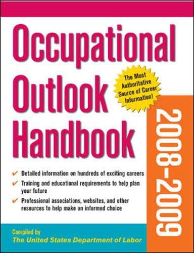 9780071492140: Occupational Outlook Handbook 2008-09 Edition (Occupational Outlook Handbook (Paper-Claitor's))