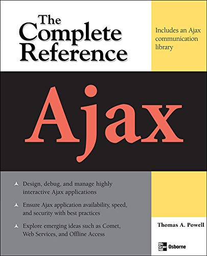 9780071492164: Ajax: The Complete Reference