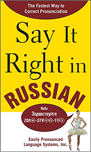 9780071492317: Say It Right in Russian: The Fastest Way to Correct Pronunciation Russian