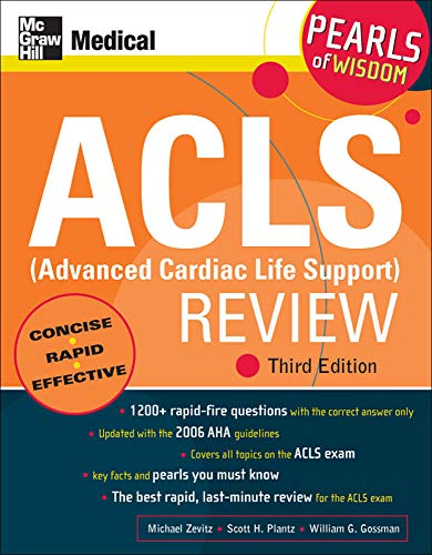 9780071492577: ACLS (Advanced Cardiac Life Support) Review: Pearls of Wisdom, Third Edition
