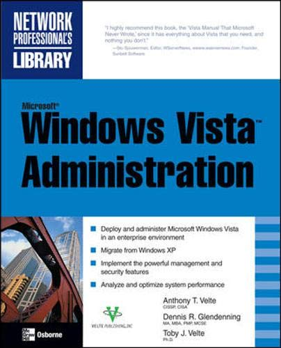 9780071493031: Microsoft Windows Vista Administration