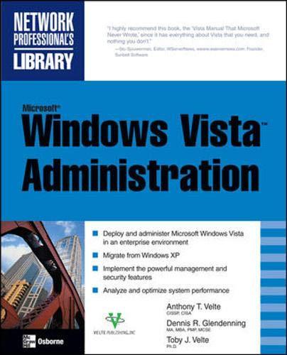 9780071493031: Microsoft Windows Vista Administration