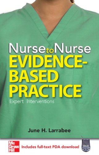 9780071493727: Nurse to Nurse Evidence-Based Practice