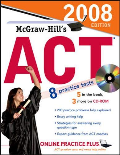 9780071493864: McGraw-Hill's ACT with CD-ROM, 2008 Edition (McGraw-Hill's ACT (W/CD))