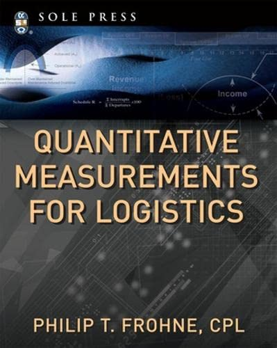 9780071494151: Quantitative Measurements for Logistics (McGraw-Hill Sole Press)