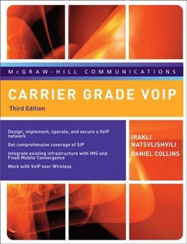9780071494212: Carrier Grade VoIP