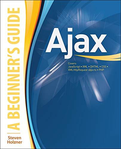 9780071494298: AJAX: A Beginner's Guide (Beginner's Guide (Osborne Mcgraw Hill))