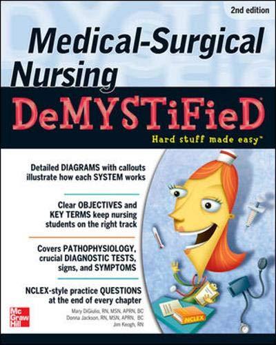 9780071494502: Medical-Surgical Nursing Demystified (Demystified Nursing)