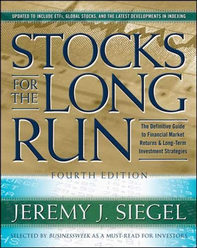 9780071494700: Stocks for the Long Run: The Definitive Guide to Financial Market Returns & Long Term Investment Strategies, 4th Edition