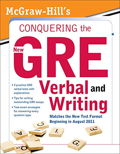 9780071495981: McGraw-Hill's Conquering the New GRE Verbal and Writing