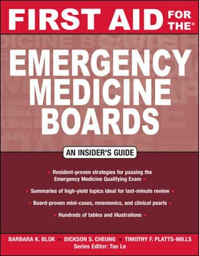 9780071496179: First Aid for the Emergency Medicine Boards (FIRST AID Specialty Boards)