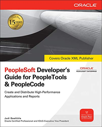 9780071496629: PeopleSoft Developer's Guide for PeopleTools and PeopleCode