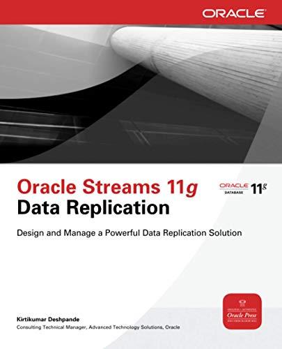 9780071496643: Oracle Streams 11g Data Replication (Oracle Press)