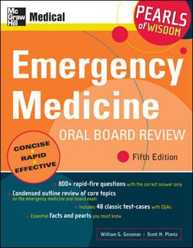 9780071497404: Emergency Medicine Oral Board Review: Pearls of Wisdom, Fifth Edition