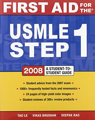 9780071498685: First Aid for the USMLE Step 1: 2008 (First Aid USMLE)