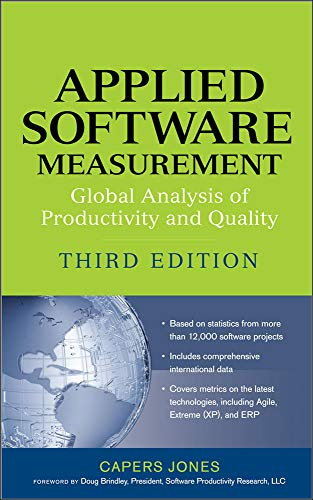 Applied Software Measurement: Global Analysis of Productivity: Jones, Capers