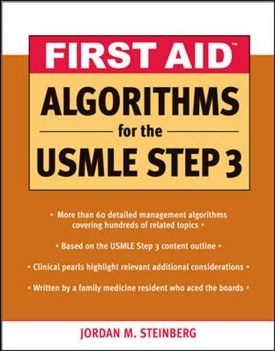 9780071508063: First Aid Algorithms for the USMLE Step 3 (First Aid Usmle)