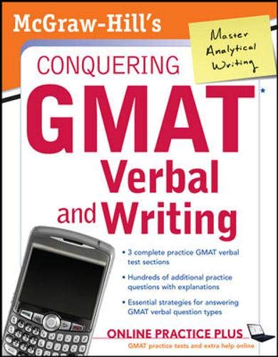 9780071508162: McGraw-Hill's Conquering GMAT Verbal and Writing
