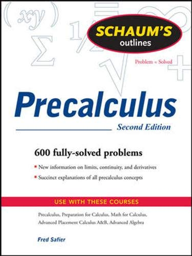 9780071508643: Schaum's Outline of PreCalculus, 2nd Ed. (Schaum's Outline Series)