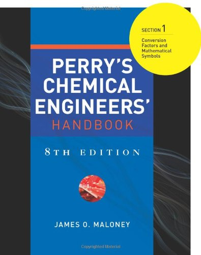 9780071511247: Perry's Chemical Engineers' Handbook 8/E Section 1:Conversion Factors and Mathematical Symbols