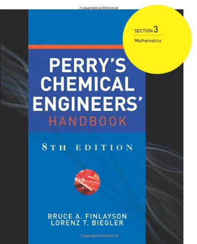 9780071511261: Perry's Chemical Engineers' Handbook 8/E Section 3:Mathematics