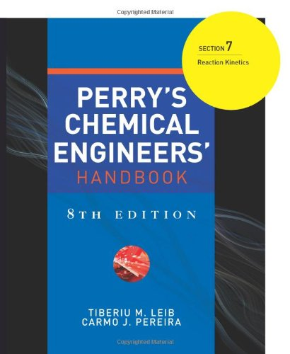 9780071511308: Perry's Chemical Engineers' Handbook 8/E Section 7:Reaction Kinetics