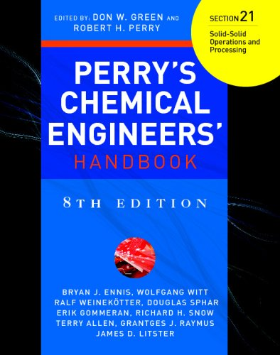 9780071511445: Perry's Chemical Engineers' Handbook 8/E Section 21:Solid-Solid Operations and Processing