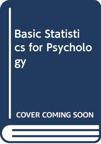 9780071540742: Basic Statistics for Psychology