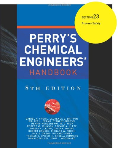 9780071542050: Perry's Chemical Engineers' Handbook 8/E Section 23:Process Safety