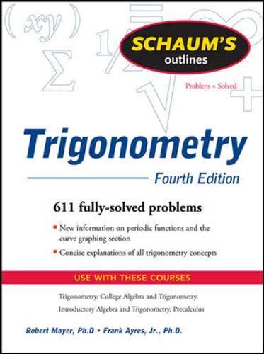 9780071543507: Schaum's Outline of Trigonometry, 4th Ed. (Schaum's Outline Series)