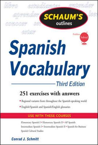 9780071543910: Schaum's Outline of Spanish Vocabulary, 3ed (Schaum's Outline Series)